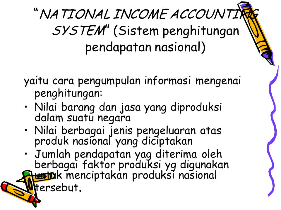 NATIONAL INCOME ACCOUNTING SYSTEM (Sistem penghitungan pendapatan nasional)