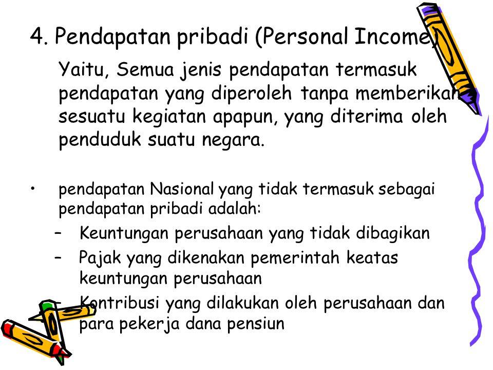 4. Pendapatan pribadi (Personal Income)