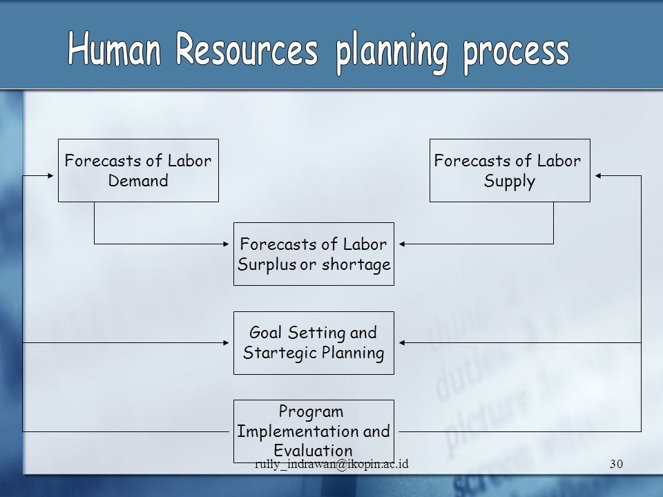 Human Resources planning process
