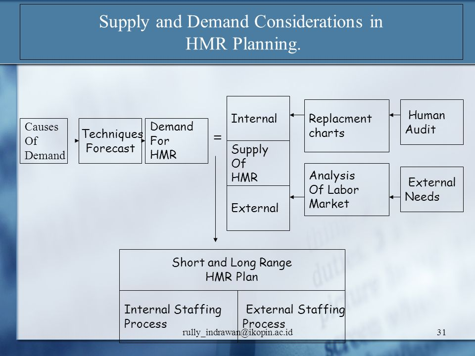 Supply and Demand Considerations in HMR Planning.