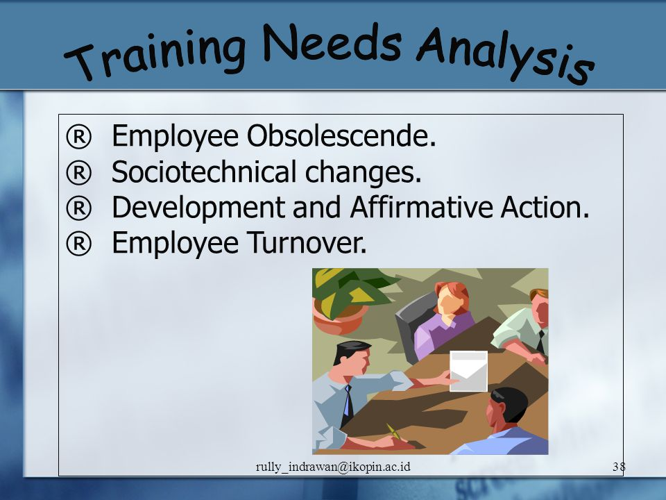 Training Needs Analysis