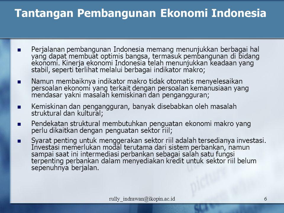 Tantangan Pembangunan Ekonomi Indonesia