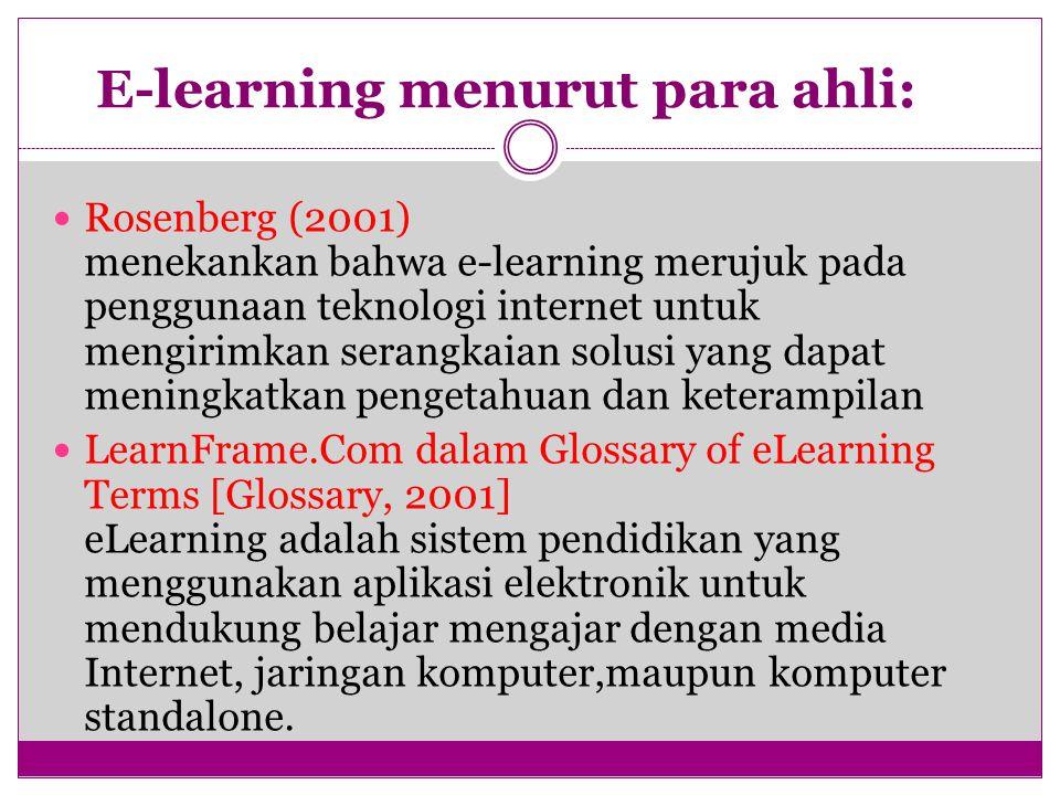 E-learning menurut para ahli: