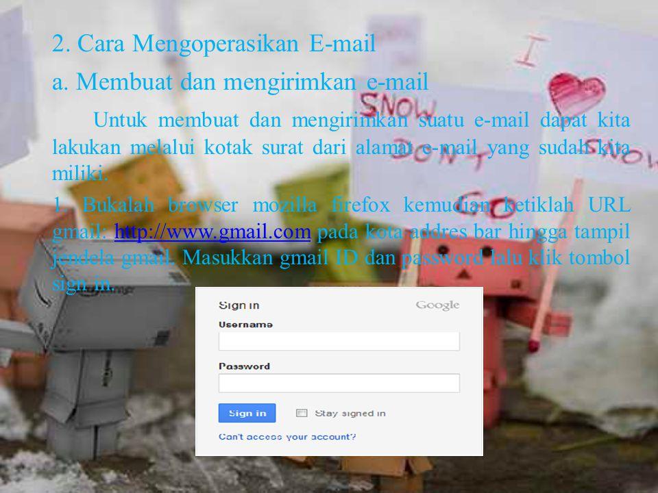 2. Cara Mengoperasikan E-mail