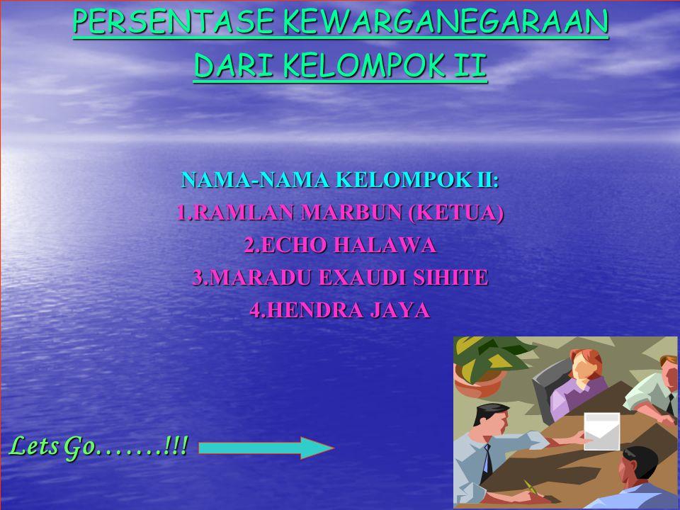 NAMA-NAMA KELOMPOK II:
