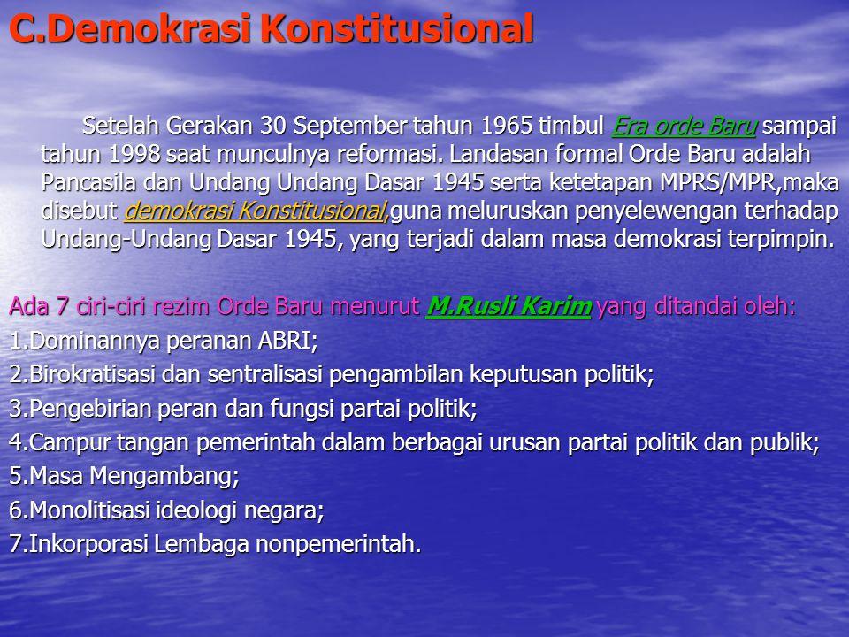 C.Demokrasi Konstitusional