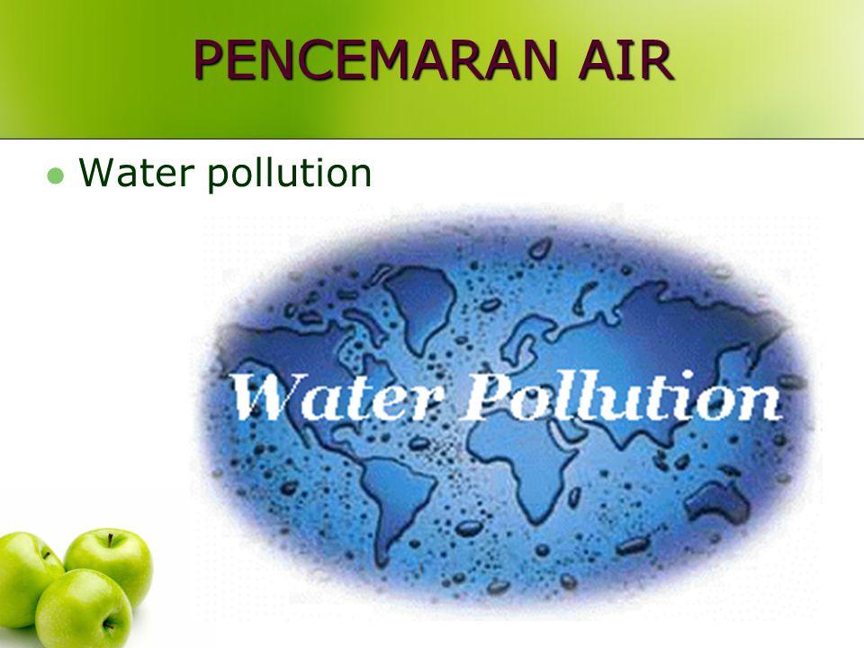 PENCEMARAN AIR Water pollution