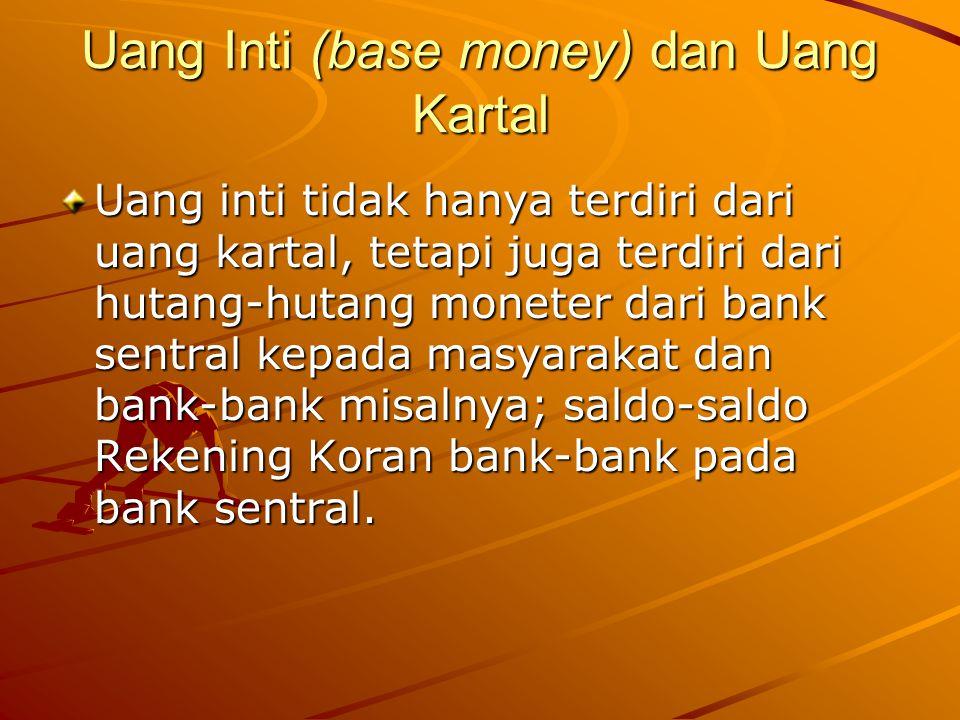 Uang Inti (base money) dan Uang Kartal