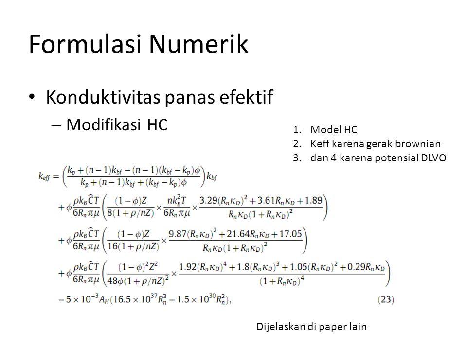 Formulasi Numerik Konduktivitas panas efektif Modifikasi HC Model HC