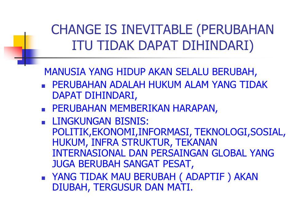 CHANGE IS INEVITABLE (PERUBAHAN ITU TIDAK DAPAT DIHINDARI)