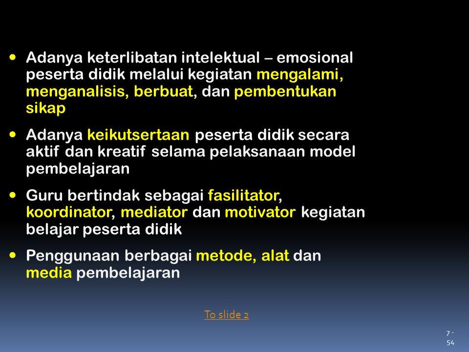 Penggunaan berbagai metode, alat dan media pembelajaran
