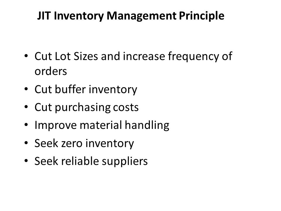 JIT Inventory Management Principle