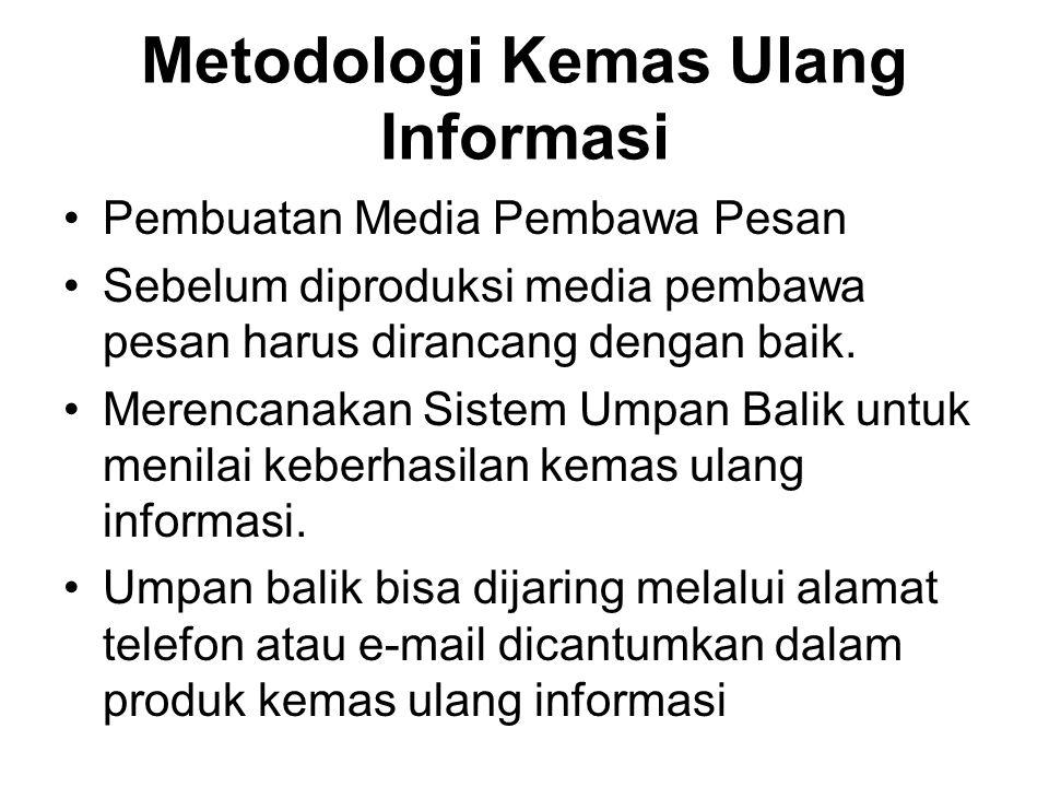 Metodologi Kemas Ulang Informasi