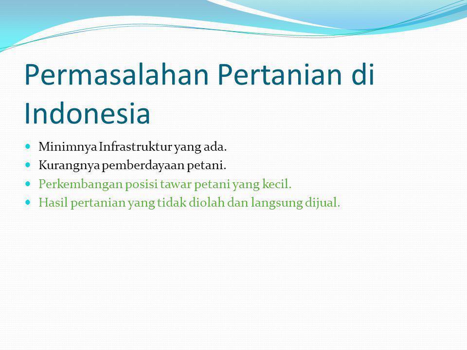 Permasalahan Pertanian di Indonesia