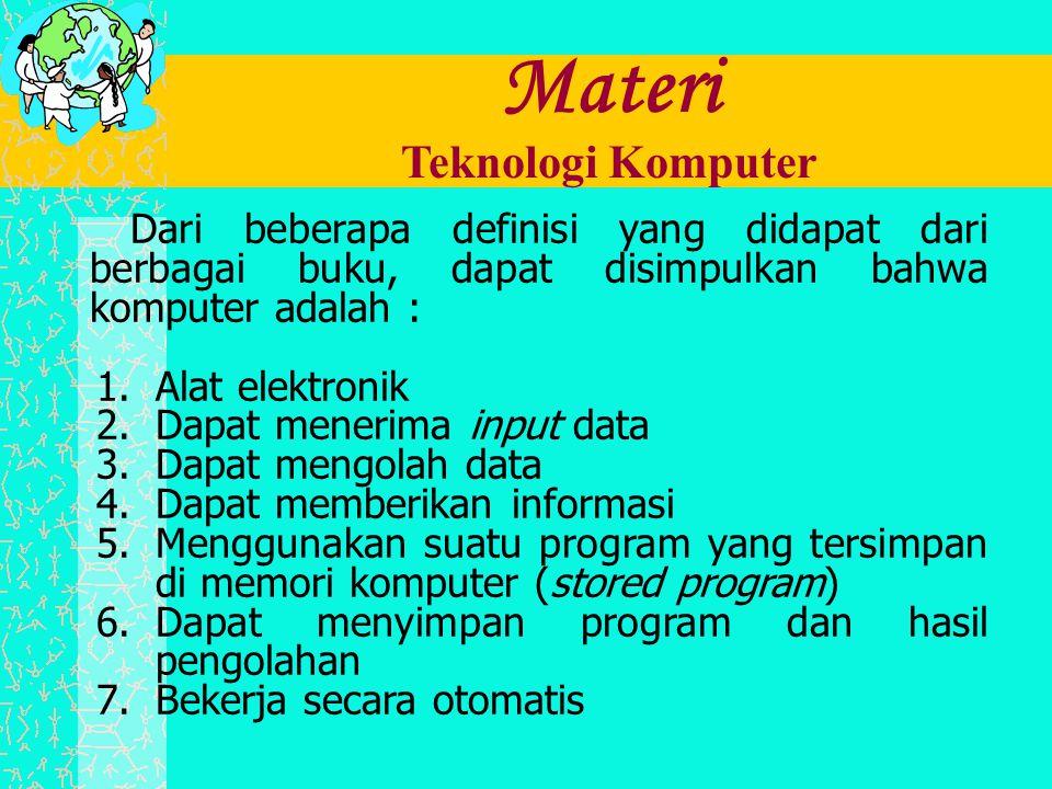 Materi Teknologi Komputer