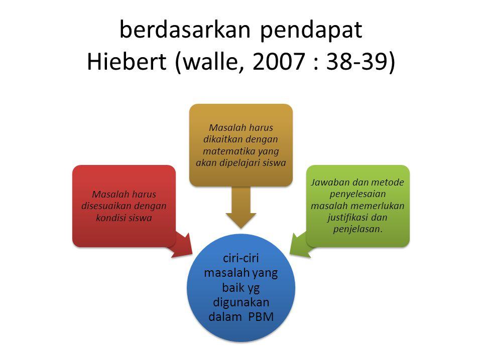 berdasarkan pendapat Hiebert (walle, 2007 : 38-39)