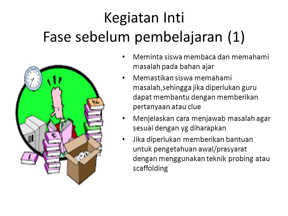 Kegiatan Inti Fase sebelum pembelajaran (1)