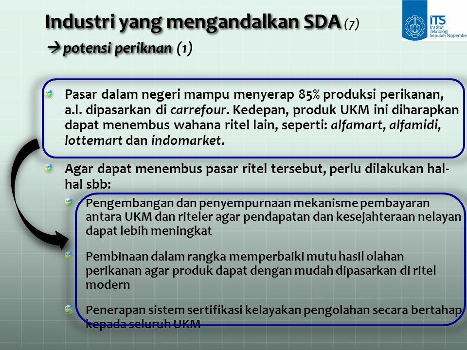Industri yang mengandalkan SDA (7)  potensi periknan (1)