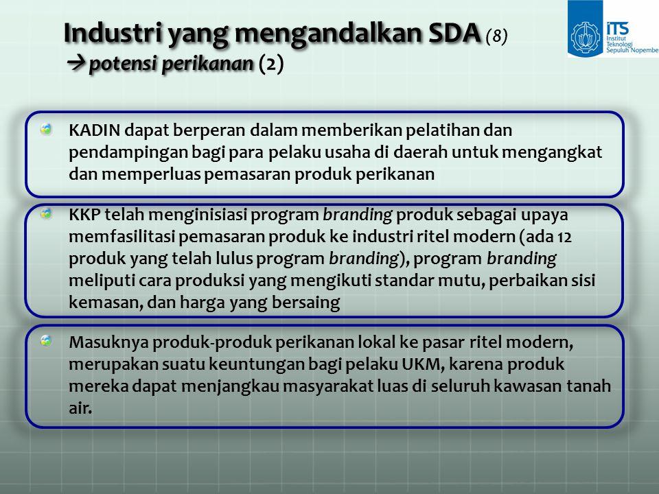 Industri yang mengandalkan SDA (8)  potensi perikanan (2)