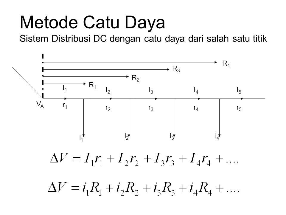 Metode Catu Daya Sistem Distribusi DC dengan catu daya dari salah satu titik