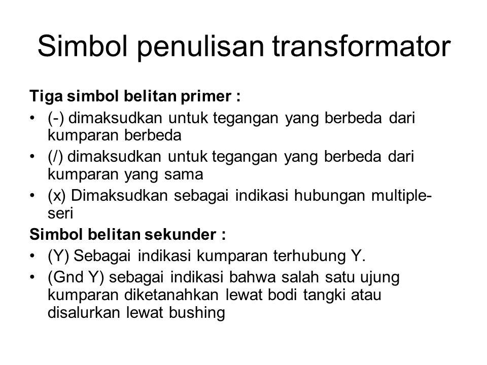 Simbol penulisan transformator