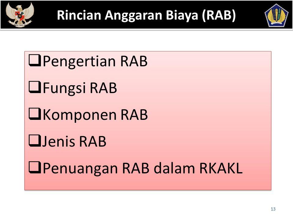Rincian Anggaran Biaya (RAB)