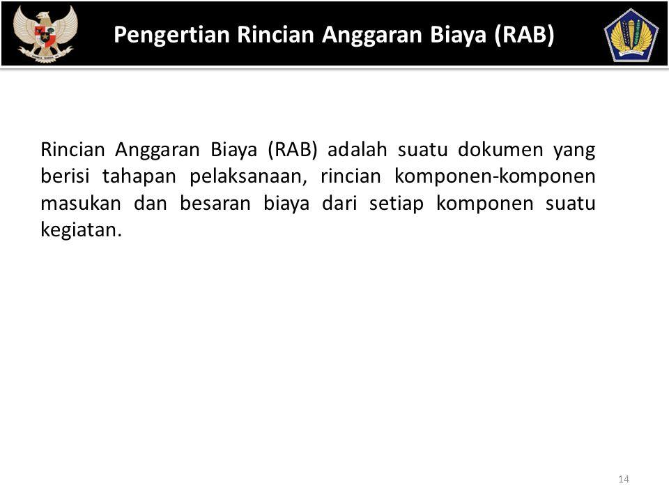 Pengertian Rincian Anggaran Biaya (RAB)