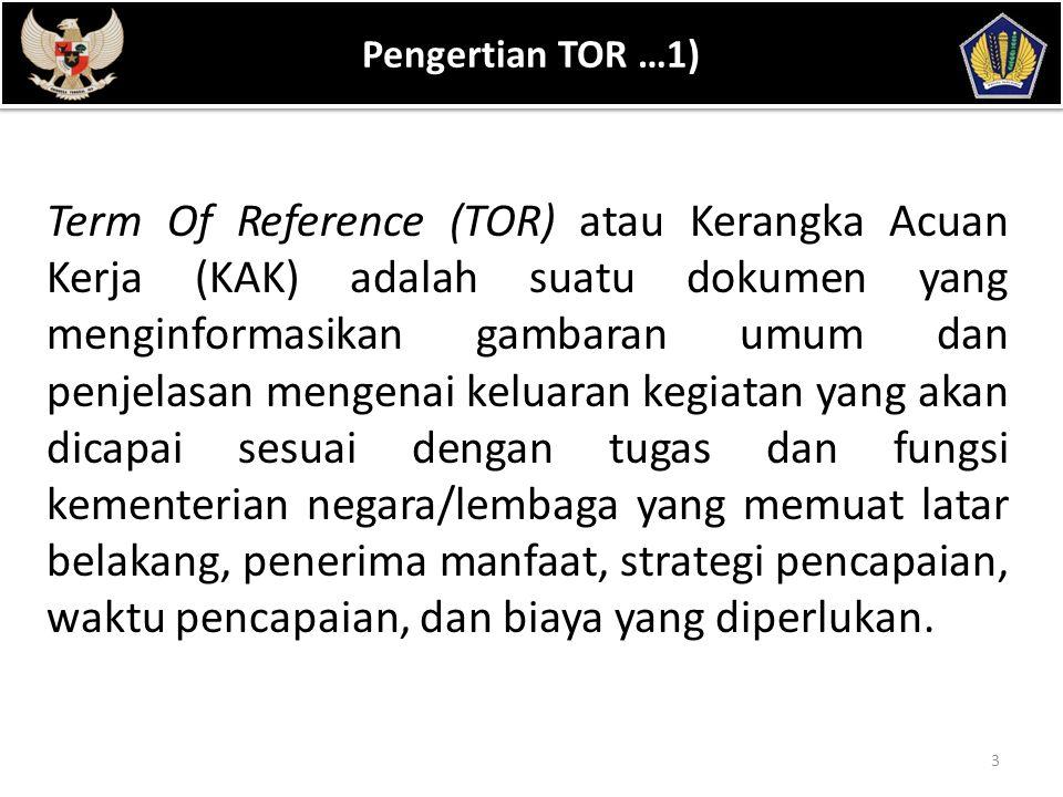 Pengertian TOR …1) POKOK BAHASAN.