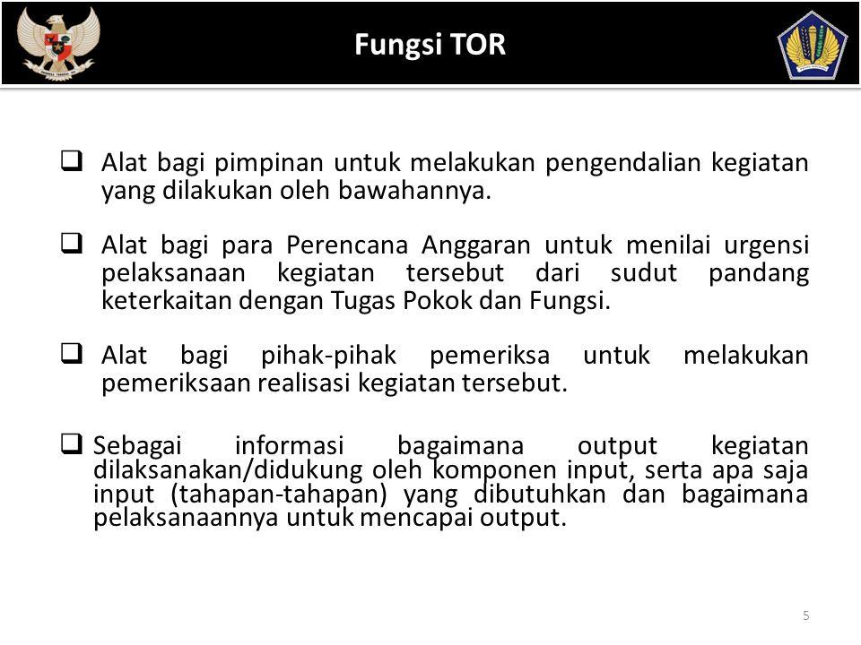 POKOK BAHASAN Fungsi TOR