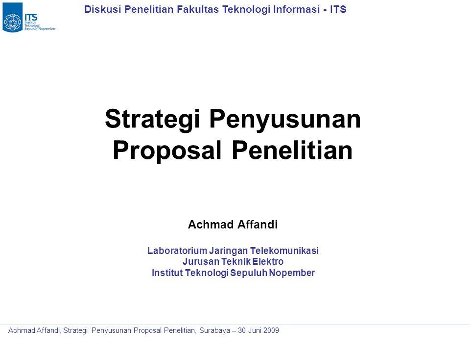 Strategi Penyusunan Proposal Penelitian