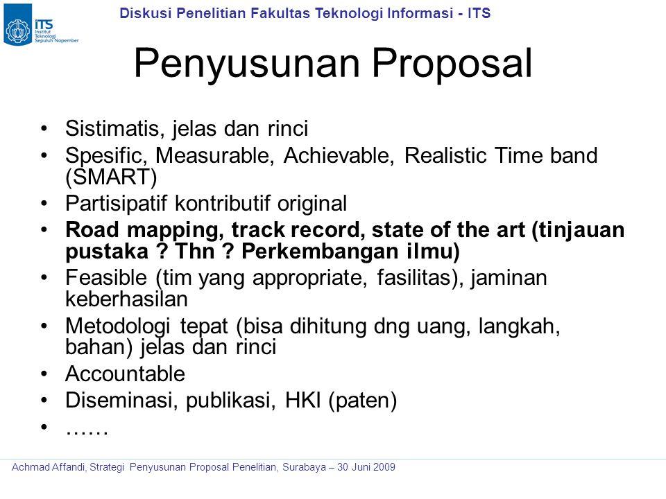 Penyusunan Proposal Sistimatis, jelas dan rinci