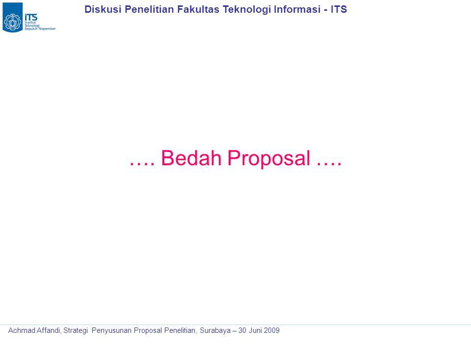 …. Bedah Proposal ….