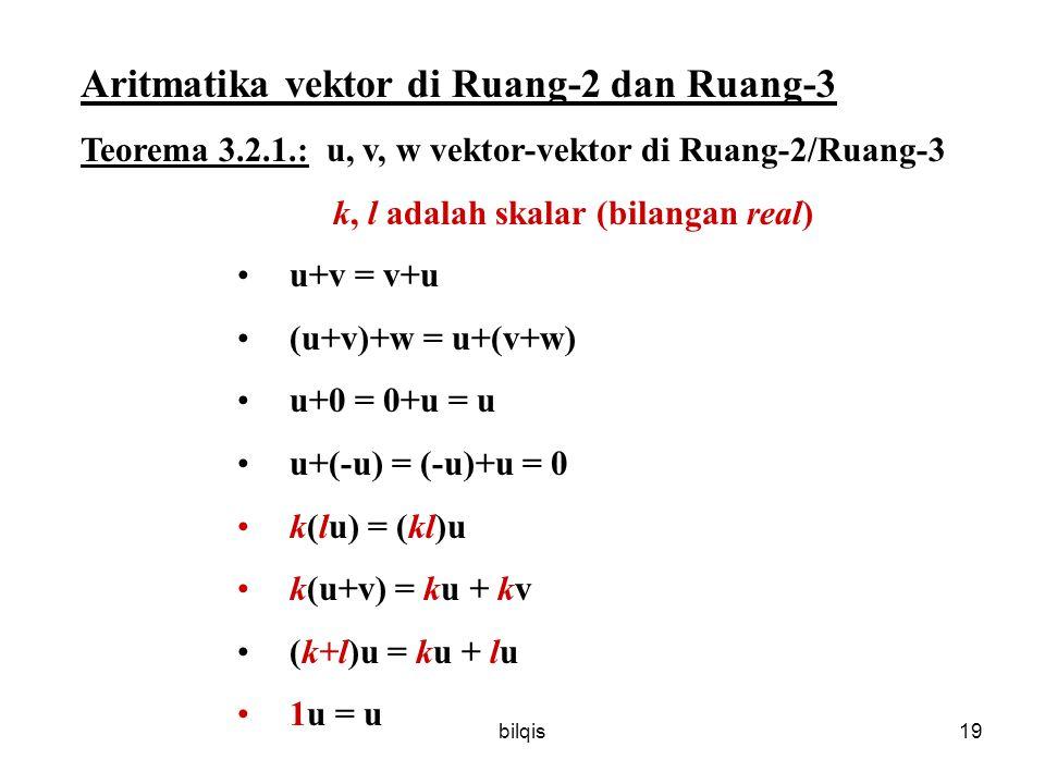 Aritmatika vektor di Ruang-2 dan Ruang-3