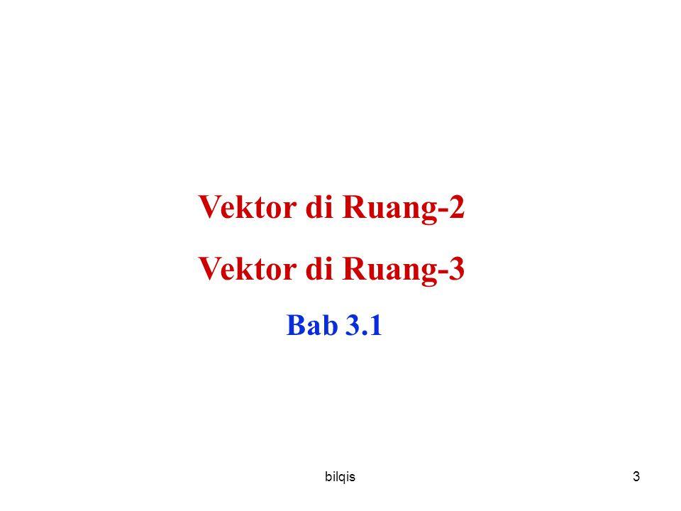 Vektor di Ruang-2 Vektor di Ruang-3 Bab 3.1 bilqis