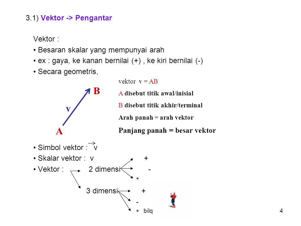 3.1) Vektor -> Pengantar