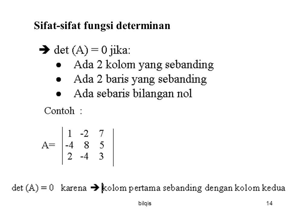 Sifat-sifat fungsi determinan