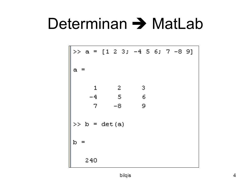Determinan  MatLab bilqis