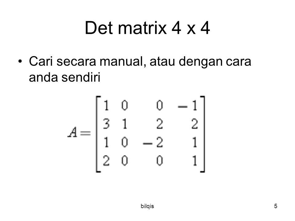 Det matrix 4 x 4 Cari secara manual, atau dengan cara anda sendiri