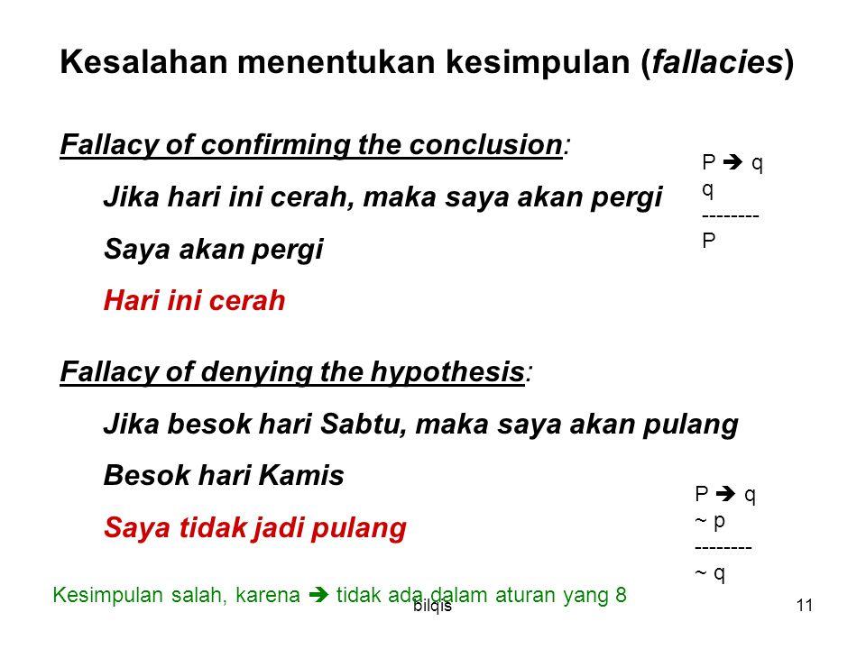 Kesalahan menentukan kesimpulan (fallacies)