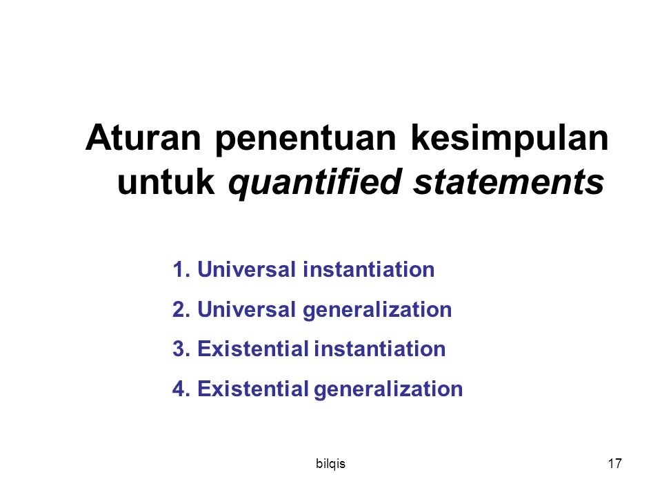 Aturan penentuan kesimpulan untuk quantified statements