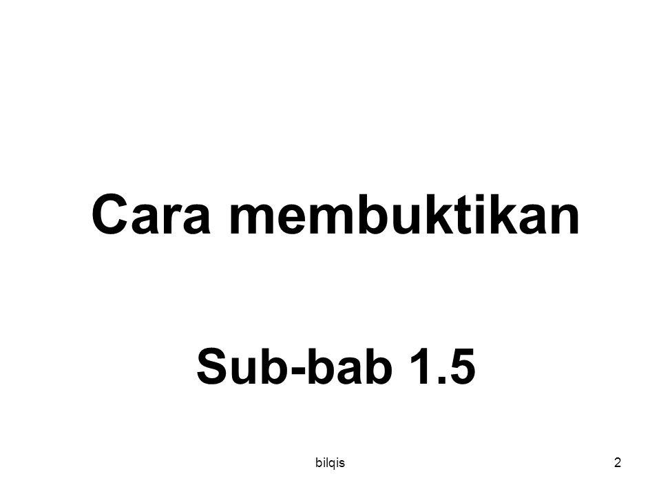 Cara membuktikan Sub-bab 1.5 bilqis
