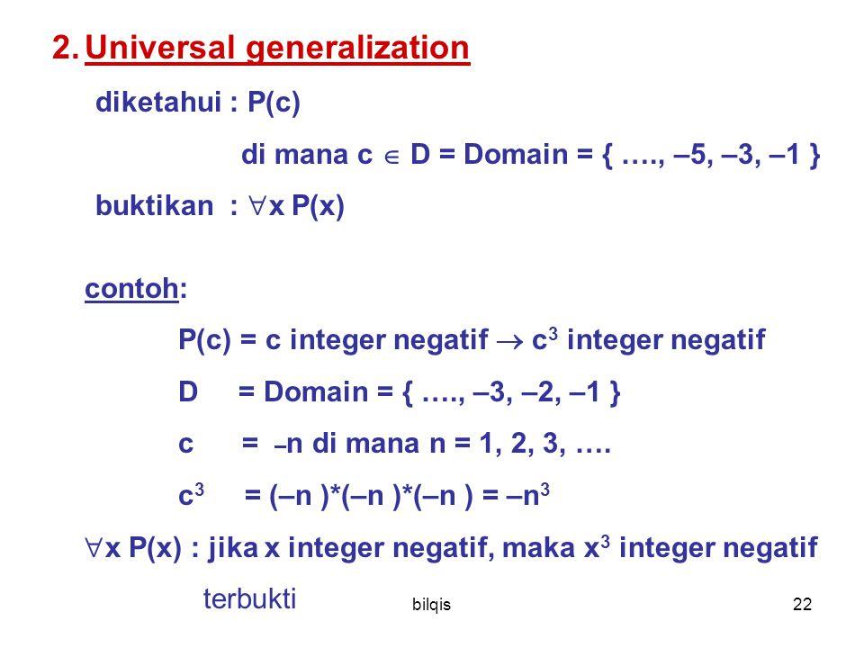 Universal generalization