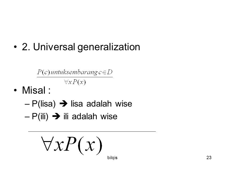 2. Universal generalization