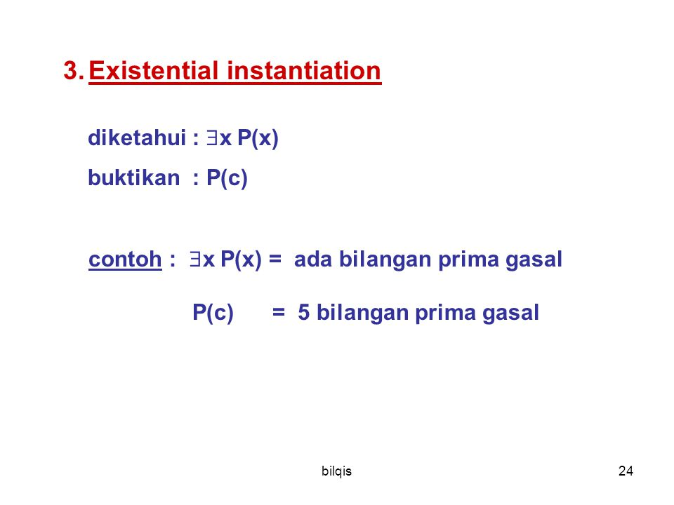 Existential instantiation