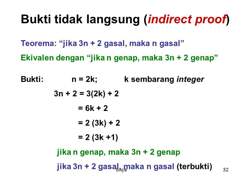 Bukti tidak langsung (indirect proof)