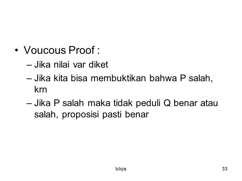 Voucous Proof : Jika nilai var diket