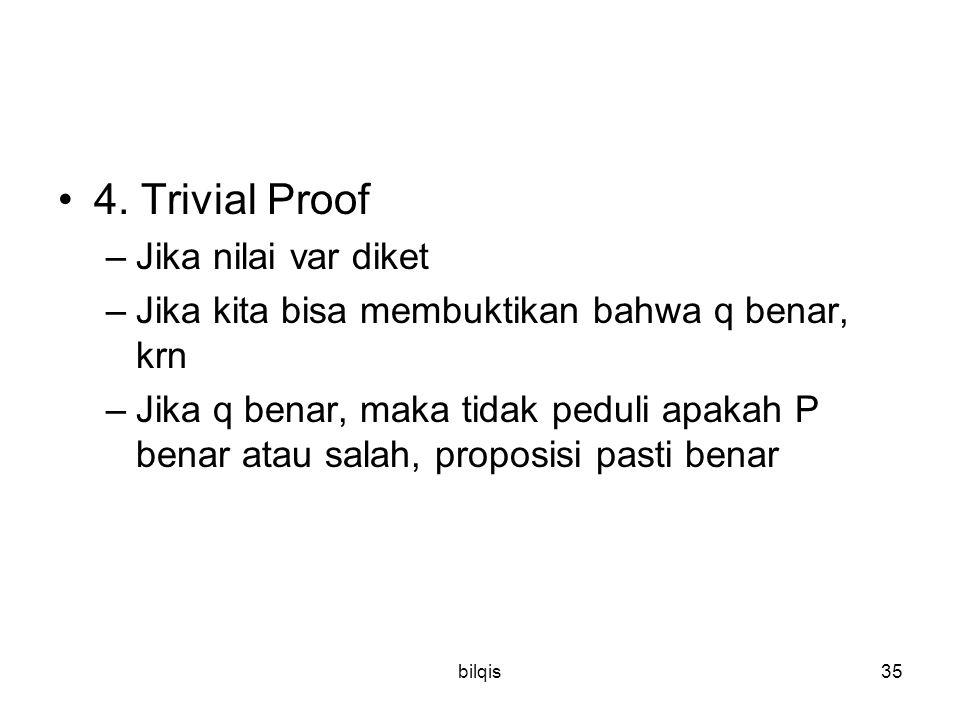 4. Trivial Proof Jika nilai var diket