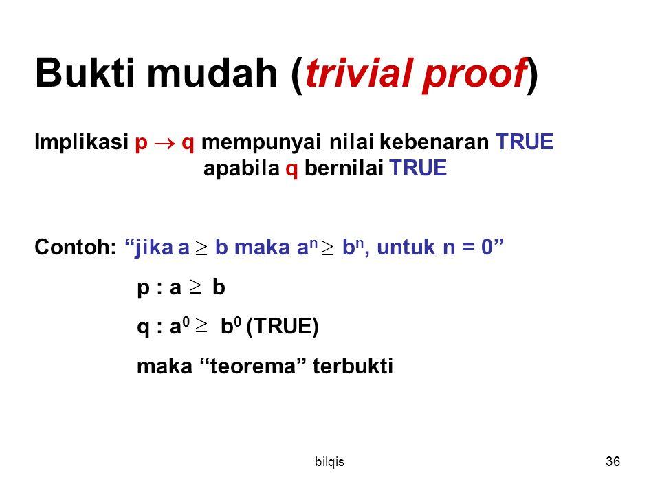 Bukti mudah (trivial proof)