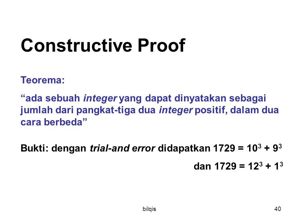 Constructive Proof Teorema: