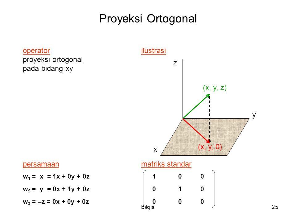 Proyeksi Ortogonal operator ilustrasi proyeksi ortogonal